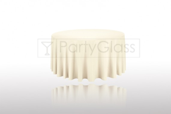 Tablecloth Ivory Round 3